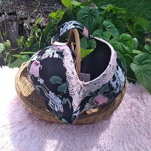 Cacique flower bra 46 DD New without tag pink lace